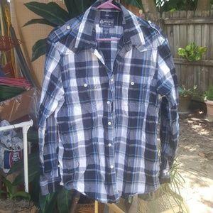 Long sleeved button down American Rag men's shirt